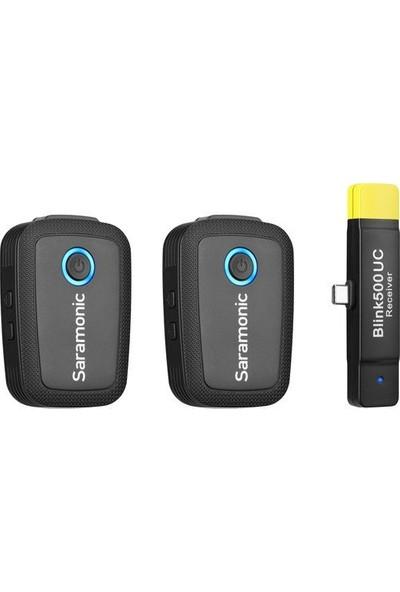 Saramonic Blink 500 B6 USB Type-C Cihazları için 2 Kişilik Kablosuz Yaka Mikrofonu Sistemi