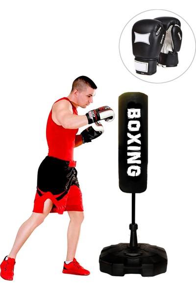 Sportif Boxing 150 cm Ayaklı Yaylı Boks Vurma Standı + Boks Eldiveni