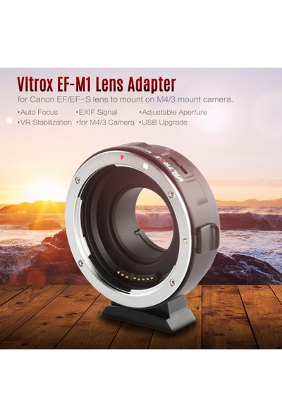 Viltrox Ef-M1 Lens Adaptör Halkası Yuvası Af Otomatik