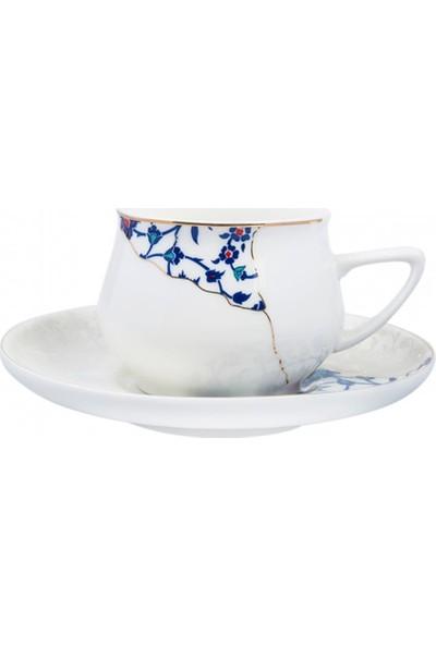 Karaca Crack 6 Kişilik Kahve Fincan Takımı