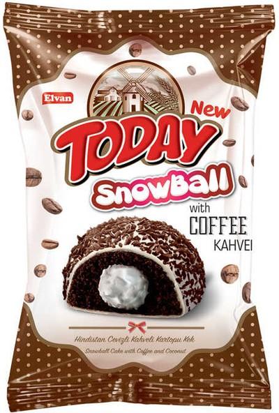 Elvan Today Snowball Kahveli Kek 45 gr x 24'lü