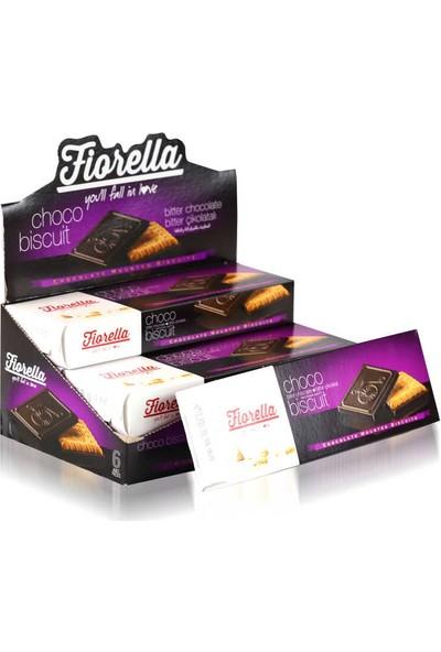 Fiorella Bitter Çikolatalı Bisküvi 102 gr 6'lı