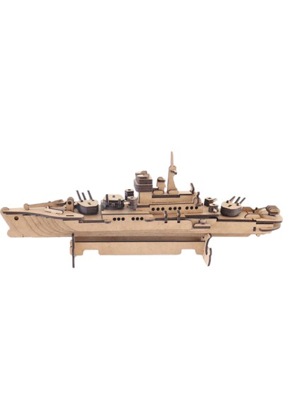 3D Sergi 3D Ahşap Puzzle Savaş Gemisi 123 Parça