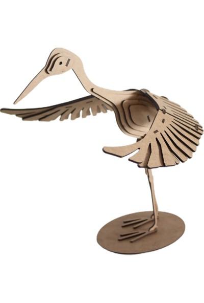 3D Sergi 3D Ahşap Puzzle Turna Kuşu 41 Parça