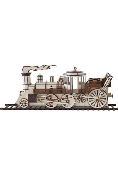 3D Sergi 3D Ahşap Puzzle Steampunk Tren 361 Parça