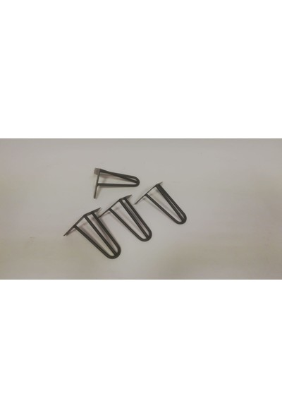 Pine 15 cm Firkete Masa Ayak 3 Bacaklı 10'luk Dolu Çelik Retro Endüstriyel Kütük Masa Ayağı