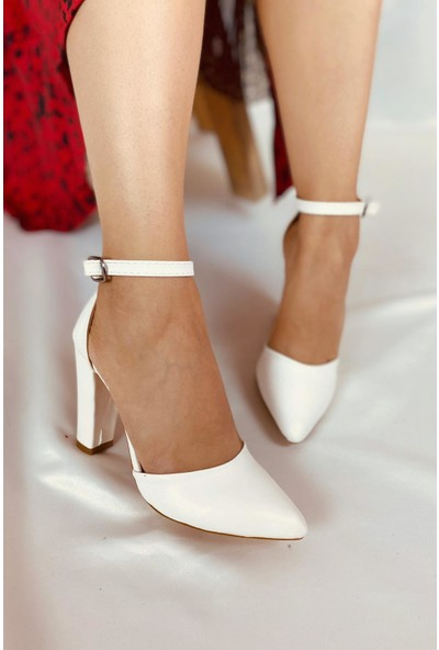 La Pante Kaşhina Beyaz Deri Kadın Stiletto