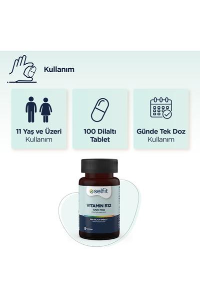Eczacıbaşı Selfit Vitamin B12 1000 Mcg 100 Dilaltı Tablet - Son Kullanma Tarihi: 02.2023