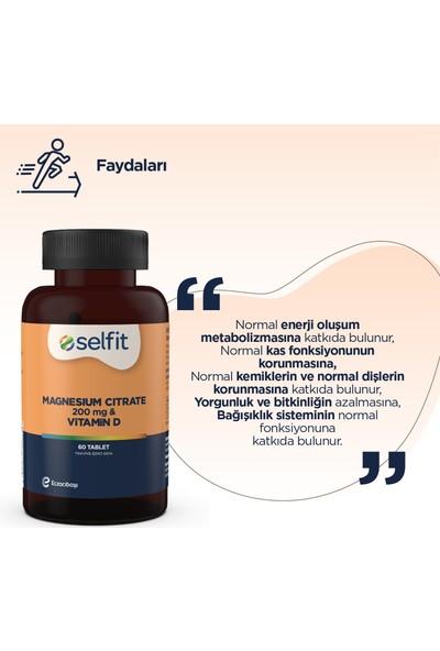 Eczacıbaşı Selfit Magnezyum Sitrat 200 Mg & Vitamin D 60 Tablet - SKT: 06.2023