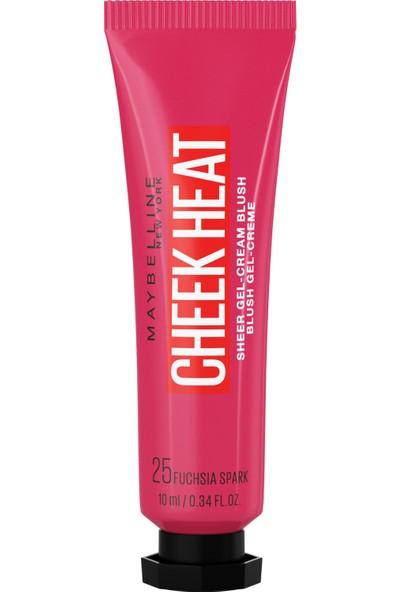 Maybelline New York Cheek Heat Likit Allık - 25 Fuchsia Spark - Fuşya