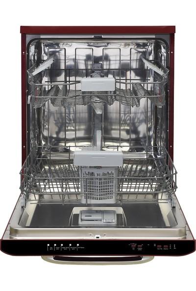 Vestel BM 5001 Retro Bordo A++ 5 Programlı Bulaşık Makinesi