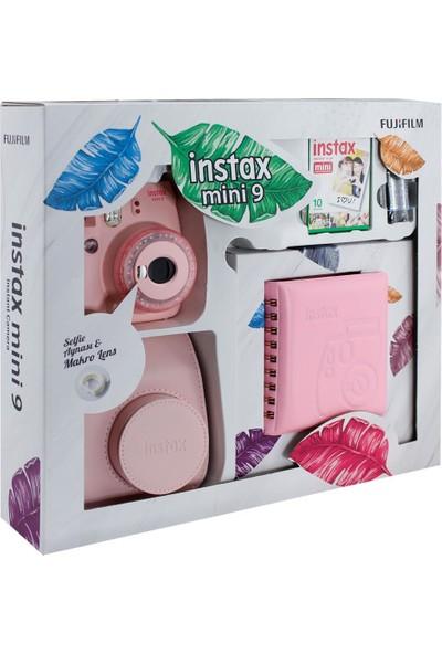 Fujifilm Instax Mini 9 Toz Pembe Kutulu Hediye Seti
