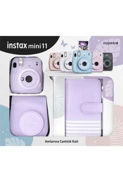 Fujifilm Instax Mini 11 Laporta Albümlü Lila Kit