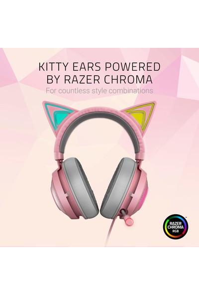Razer Kraken Kitty Edition Rgb USB 7.1 Surround Oyuncu Kulaklığı (Yurt Dışından)
