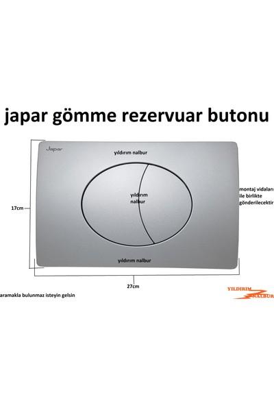 Japar Gömme Rezervuar Butonu Düğmesi Yuvarlak Model