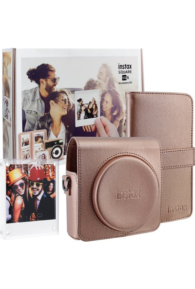 Fujifilm Instax Square Sq6 Rose Gold Aksesuar Seti