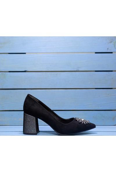 Papuç File Detaylı Topuklu Ayakkabı
