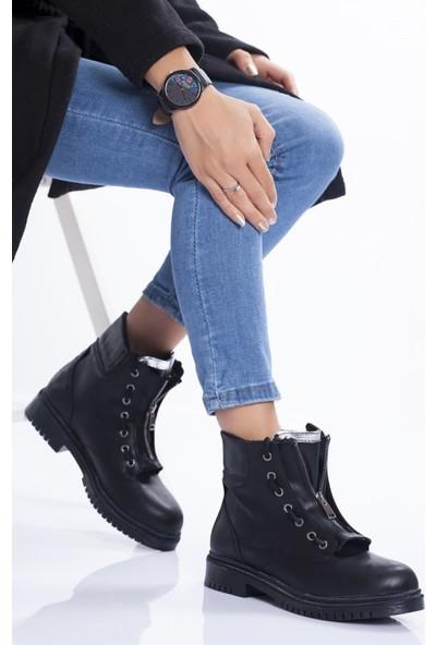Ayakkabı Frekansı Dion Bot Siyah Cilt