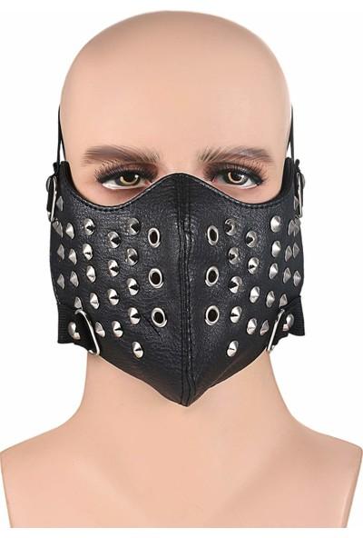 Tswrk Çivili Halloween Cadılar Bayramı Yarım Yüz Maskesi
