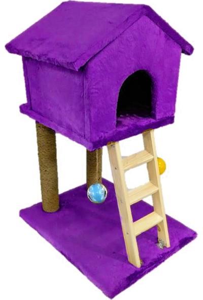 Mila Süngerli Merdivenli Kedi Tırmalama Evi Mor