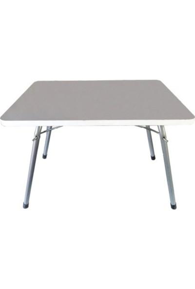 Marketonya Katlanır Masa Balkon Bahçe Kamp Masası Piknik Masası 45 x 60 - Beyaz