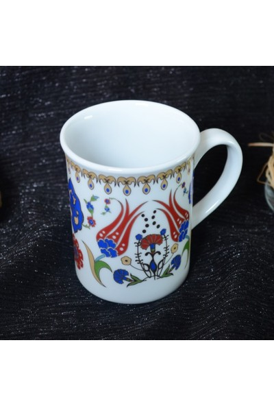 Güral Porselen El Dekoru Kupa Bardak