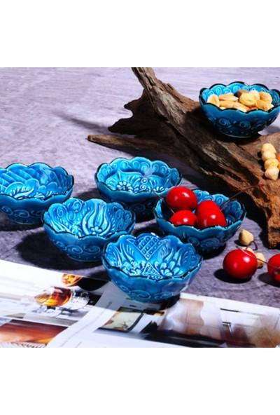 Evanilife Çerezlik& Sosluk 6 Adet Seramik Handmade