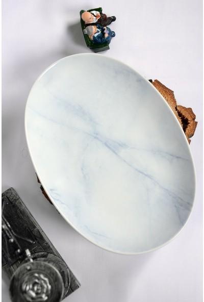 Kütahya Porselen Kayık Salata Tabağı 26 cm
