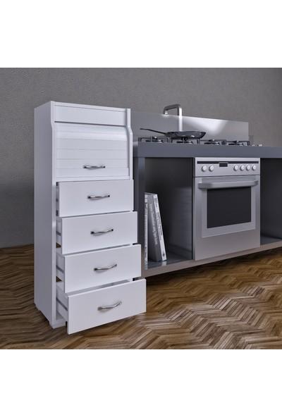Fora Home Pandora Ekmek Dolabı Ekmeklik Kiler Dolabı Çok Amaçlı Dolap