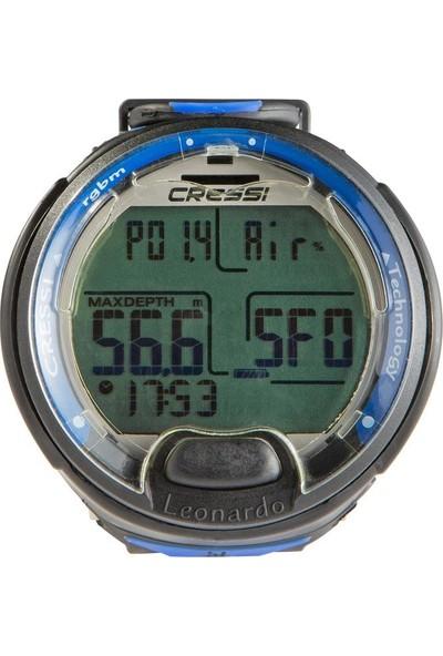 Cressi Leonardo Tüplü Dalış Saati - Siyah / Mavi Cressı