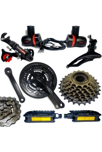 Sunrun Emir Bisiklet'de Sunrun 3x7 21 Vites Arka,orta,zincir,pedal,vites Kolu,grup Seti