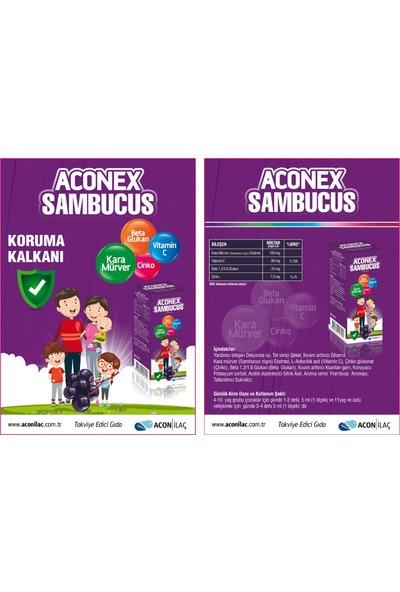 Acon İlaç Aconex Sambucus Kara Mürver+Beta Glucan+C Vitamini+D Vitamini