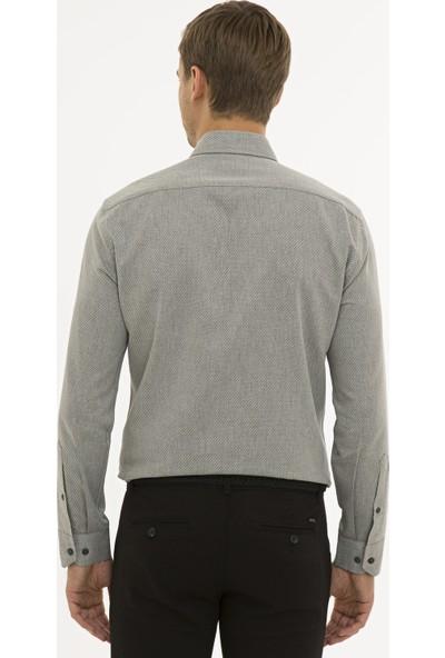 Pierre Cardin Erkek Gri Slim Fit Gömlek 50233500-VR024