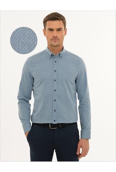 Pierre Cardin Erkek Lacivert Slim Fit Gömlek 50233500-VR033