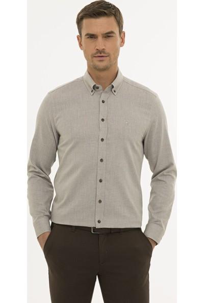 Pierre Cardin Erkek Açık Kahverengi Slim Fit Gömlek 50233500-VR002