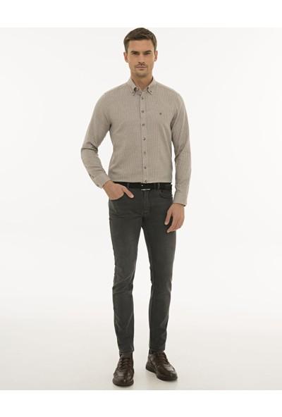 Pierre Cardin Erkek Açık Kahverengi Slim Fit Gömlek 50233533-VR002