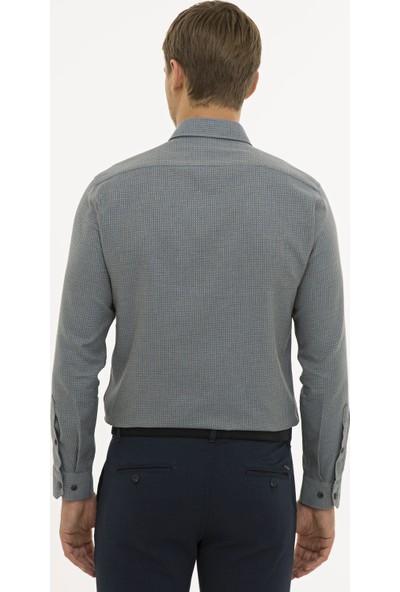 Pierre Cardin Erkek Antrasit Slim Fit Gömlek 50233533-VR006