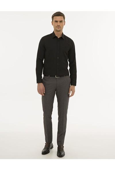 Pierre Cardin Erkek Siyah Slim Fit Oxford Gömlek 50233546-VR046