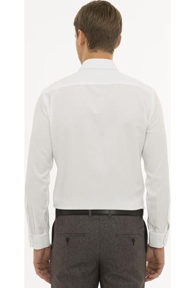 Pierre Cardin Erkek Beyaz Slim Fit Oxford Gömlek 50233546-VR013