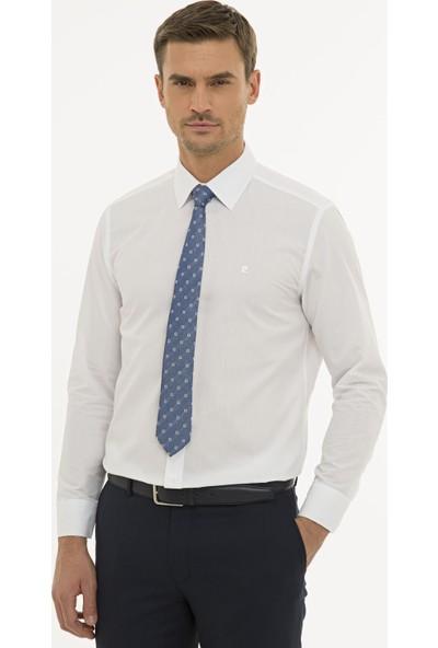 Pierre Cardin Erkek Beyaz Regular Fit Basic Gömlek 50233544-VR013