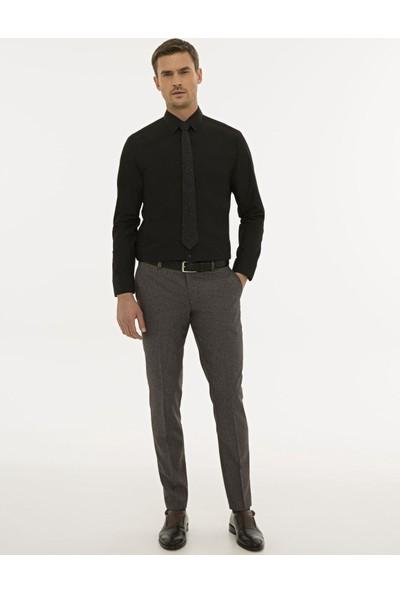 Pierre Cardin Erkek Siyah Regular Fit Basic Gömlek 50233544-VR046
