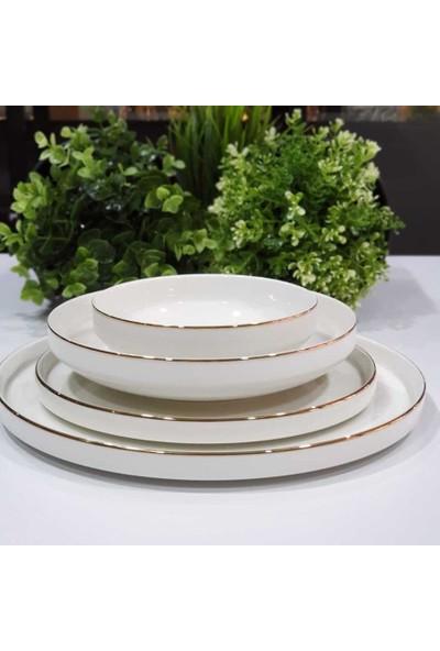 Pink & More Modern Gold 48 Parça Lüx Porselen Yemek Takımı 12 Kişilik