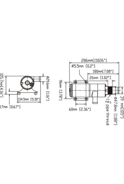Sailflo Macerator Pompa 12V 45 Lt / Dk