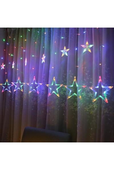 Nettenevime LED Işık Dekoratif Süs 2 Fonksiyonlı Dev Yıldız Sarkaç Hediyelik