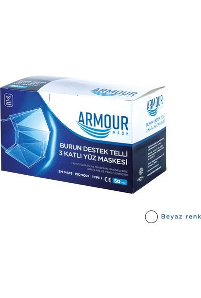 Armour Tek Kullanımlık Yetişkin Cerrahi Maske 50'li