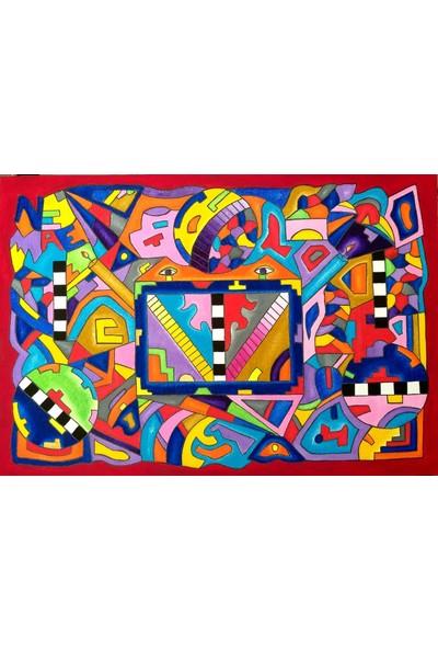 Maya Koleksiyon 130 x 90 cm Tuval Üzerine Yağlıboya Tolga Ezel Imzalı Tablo