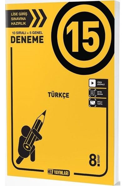 Hız Yayınları 8. Sınıf Türkçe 15 Deneme