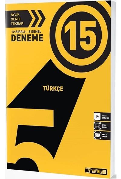 Hız Yayınları 5. Sınıf Türkçe 15 Deneme