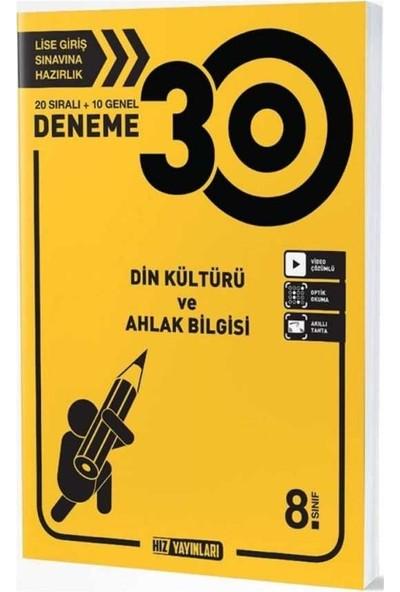 Hız Yayınları 8. Sınıf Din Kültürü ve Ahlak Bilgisi 30 Deneme
