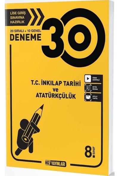 Hız Yayınları 8. Sınıf T.C. İnkılap Tarihi ve Atatürkçülük 30 Deneme